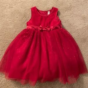 Red 4T Tulle Christmas Holiday Dress Like NEW